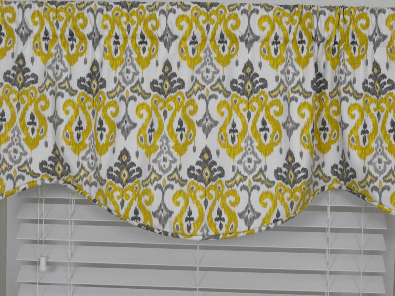 kitchen curtains for bay windows pictures wall valance gray yellow charcoal mocha almost white