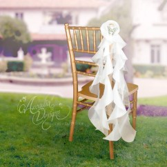 Ruffle Chair Sashes Cover Hire Central Coast Willow Bridal Decortive Sash