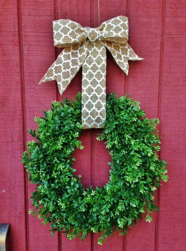 Outdoor Boxwood Wreath Faux Theflirtyfeather