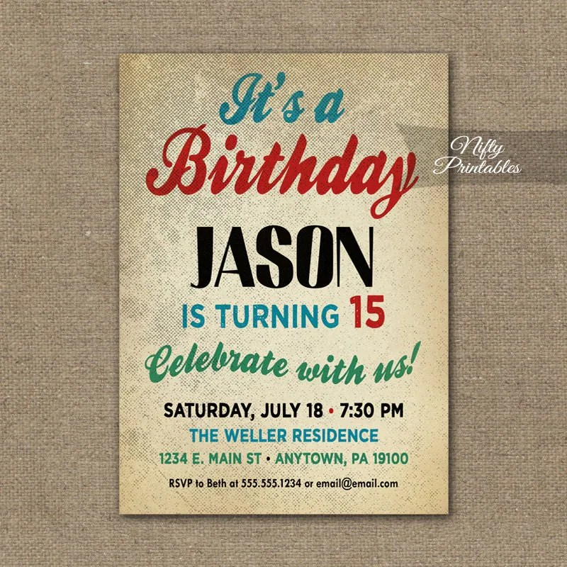 16th Birthday Party Invitations Boy | Inviview.co