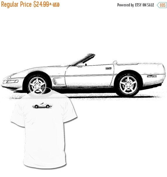 40% OFF Sale C4 Chevrolet Corvette Convertible Drawing by