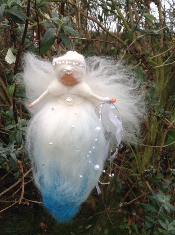 Felt Fairy Snow Queen Winter Waldorf