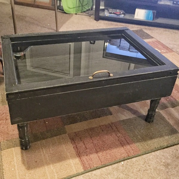 Wood Shadow Box Coffee Table Military Sandjbargainvault