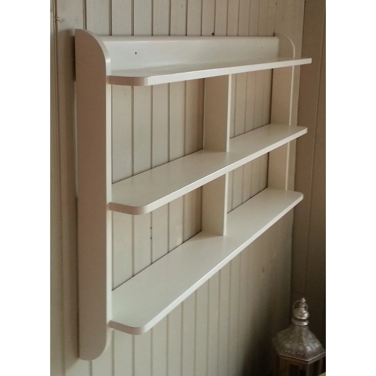 kitchen wall shelving units table and chairs with wheels wide mounted open back shelf unit painted