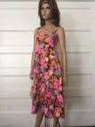 Vintage 1960' Sun Dress Psychedelic Daisy Retro