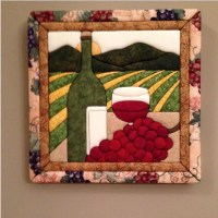 Wine country fabric wall art room decor by WhimsicalPictures