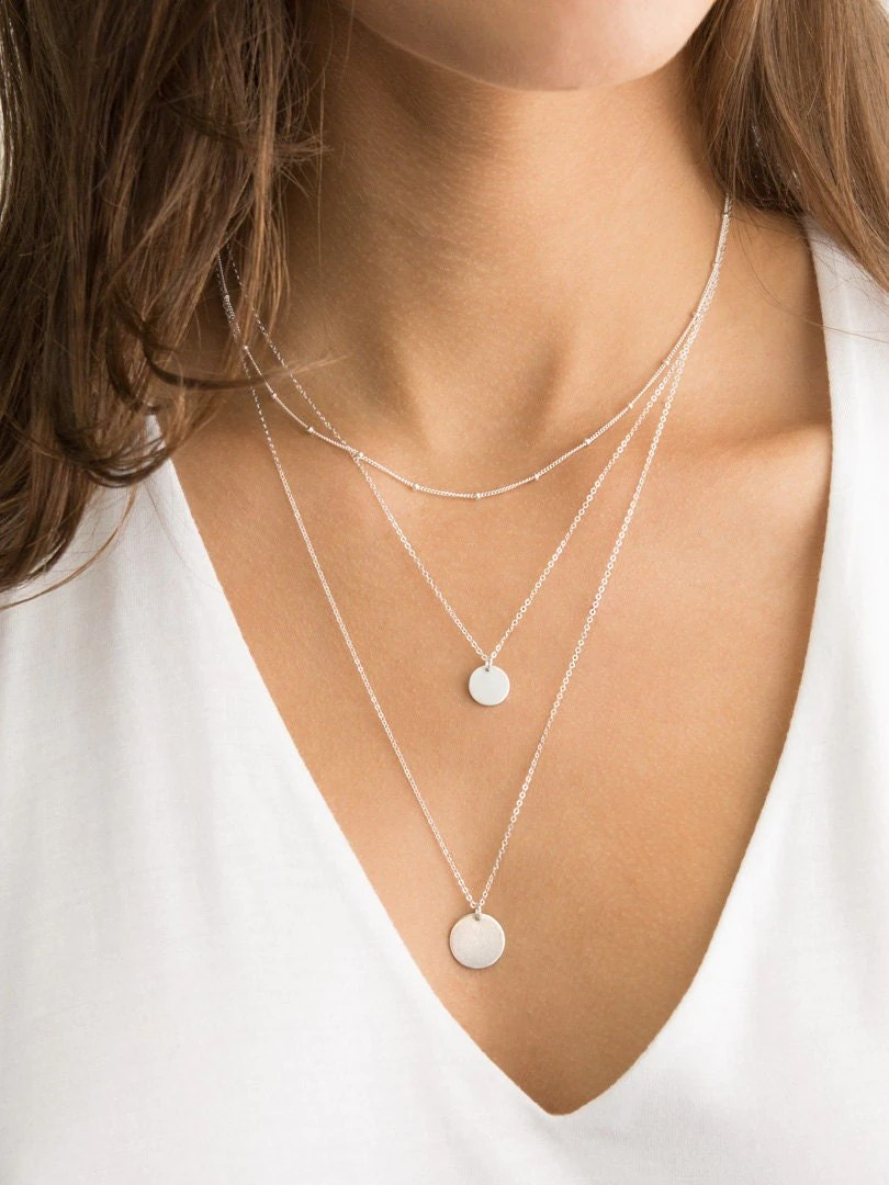 Set 907 Sterling Silver 14k Gold Fill or Rose Gold Layered
