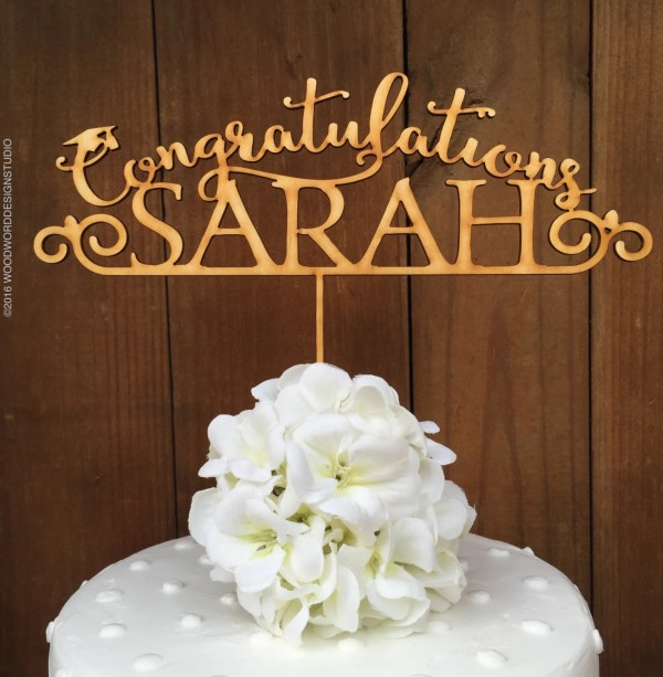 Graduation Cake Topper Personalized Custom
