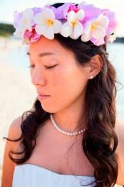 hawaiian flower crown tropical