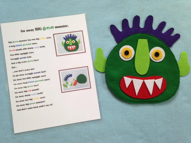 Go Away Big Green Monster Felt Activity Felt Story