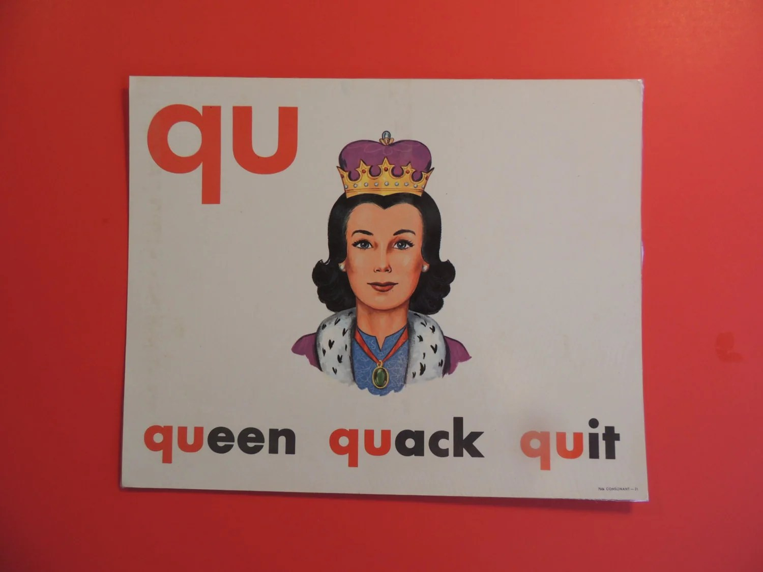 Qu Phonics Picture Card By Blacksheepmo On Etsy