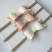 baby headbands faux leather bows