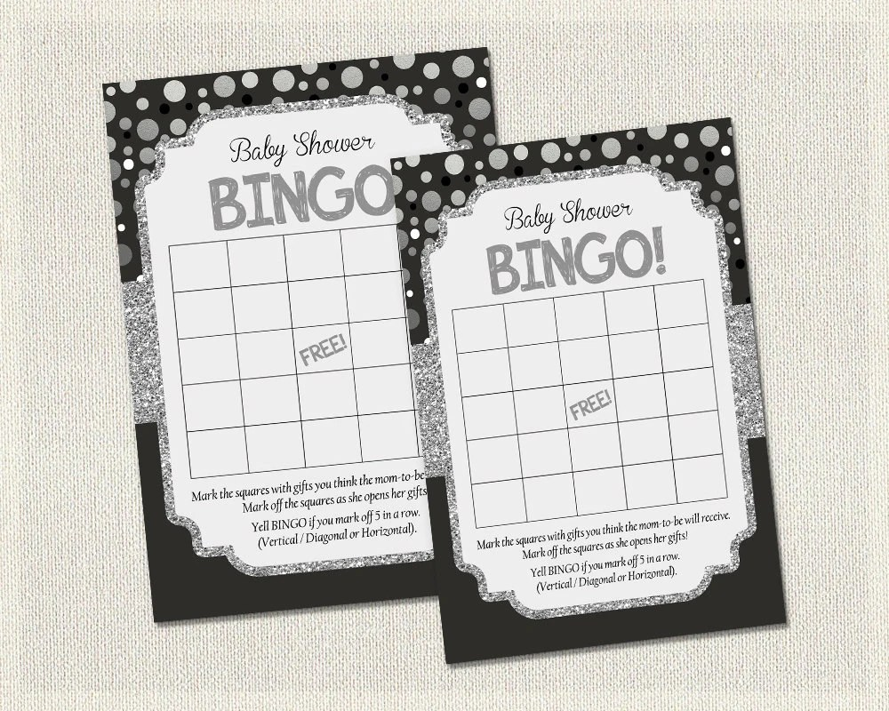 Free Baby Bingo Template Printable Blank