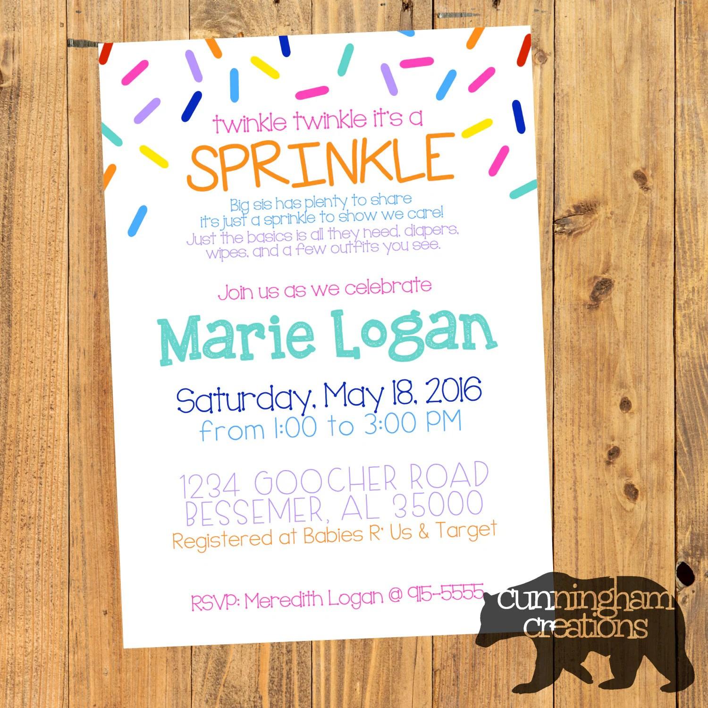 Sprinkle Shower Invitation