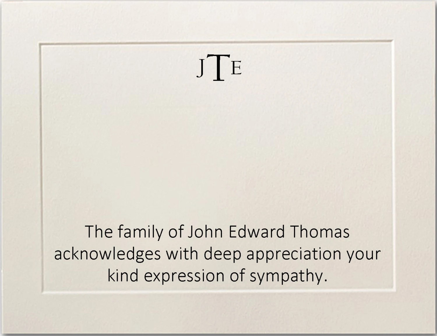 Sympathy Acknowledgement Funeral Thank You Cards Personalized