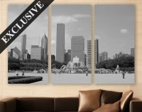 Chicago Wall Art EXTRA LARGE Canvas Print 3 Panel Art by ...