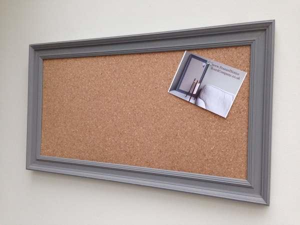 Large Framed Cork Board Office
