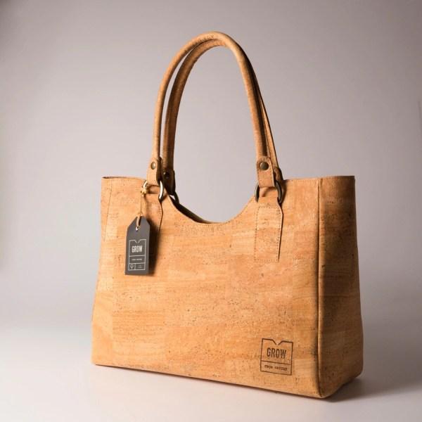Beautiful Tote Handbag Natural Cork Free Shipping Vegan