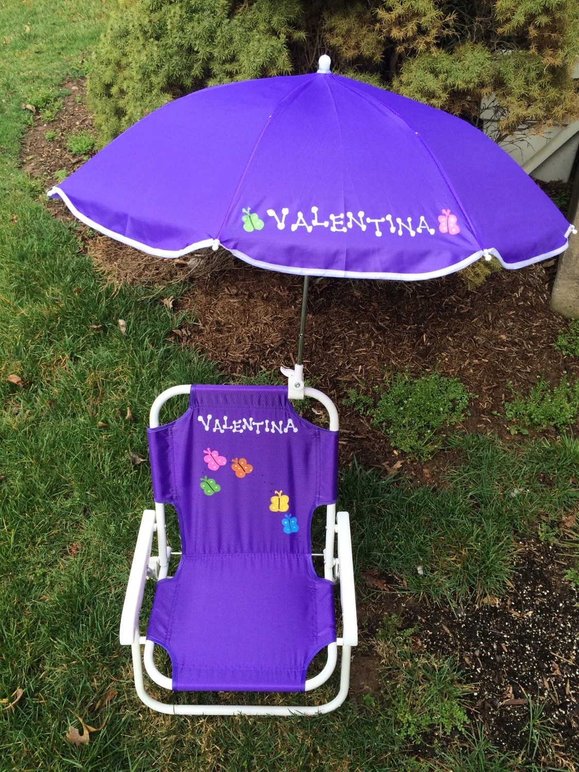 children s beach chair with umbrella cover rentals brantford personalized & set