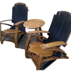 Adirondack Wine Barrel Chairs Oversized Aluminum Rocking Chair Set 3 Piece And By