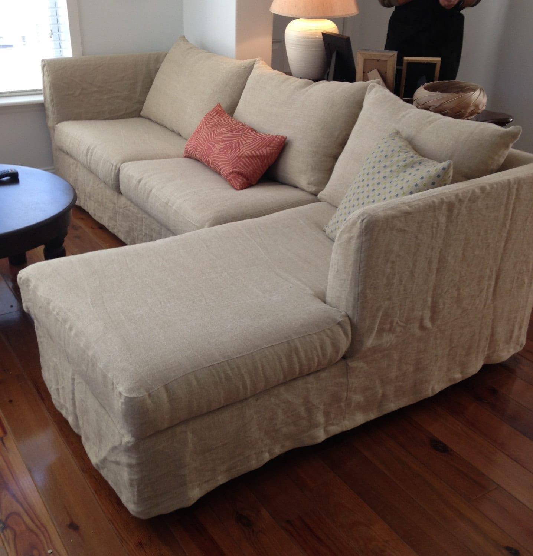 one arm sofa slipcover farmhouse sofas 2 piece 6 cushion sectional custom 1 loveseat