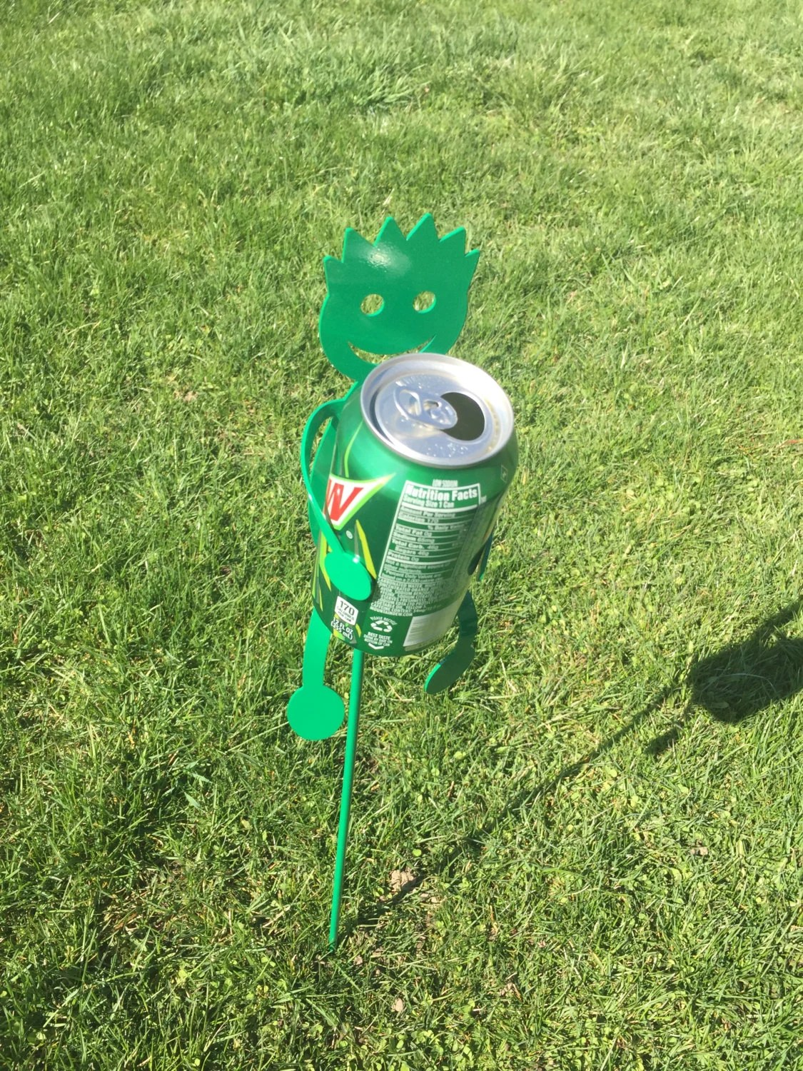 Drink holders for the yard Green by SCHROCKMETALFX on Etsy