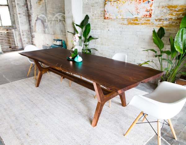 Walnut Live Edge Dining Table Conference Harvest