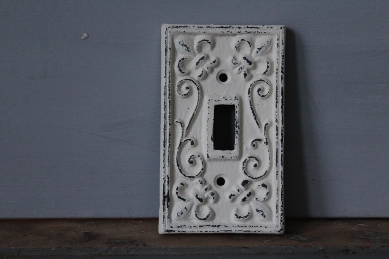 Switch Plate / Painted Wrought Iron Switch Plate / Farmhouse