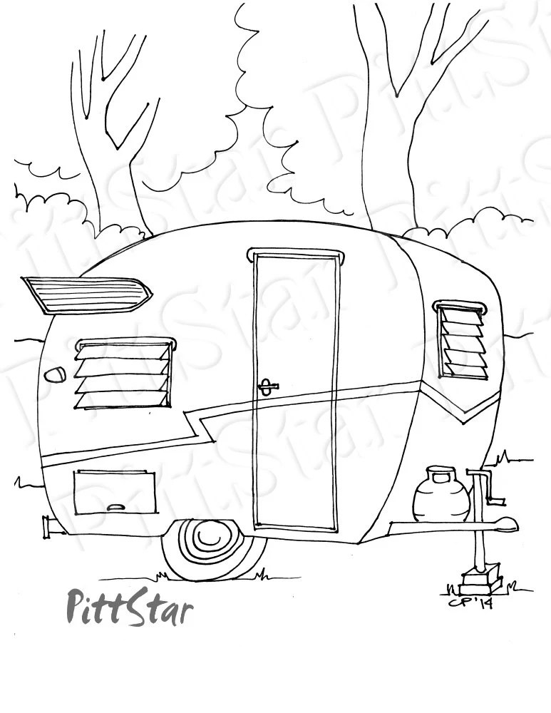 Instant Download 1960 Vintage Shasta Travel Trailer with