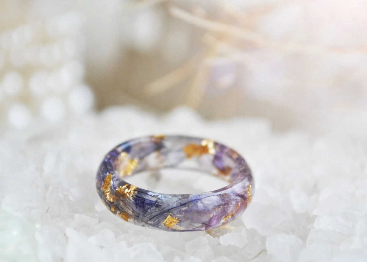 Nature Rings Resin Nature Ring Nature Inspired By Vytvir