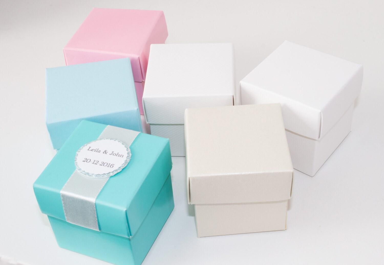 Wedding Favor Boxes Square Favor Boxes Personalized Favor