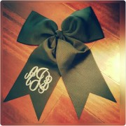 cheer bow monogram hair