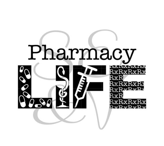 Pharmacy LIFE Cut File Instant Digital Download//svg//png