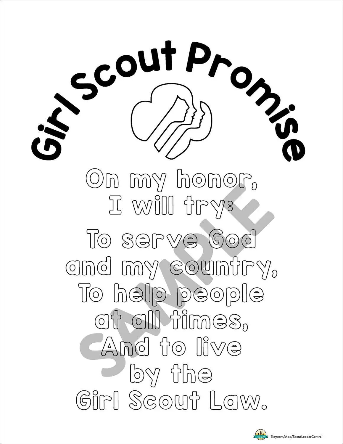 The Girl Scout Promise 12x12 Premade Scrapbook Page