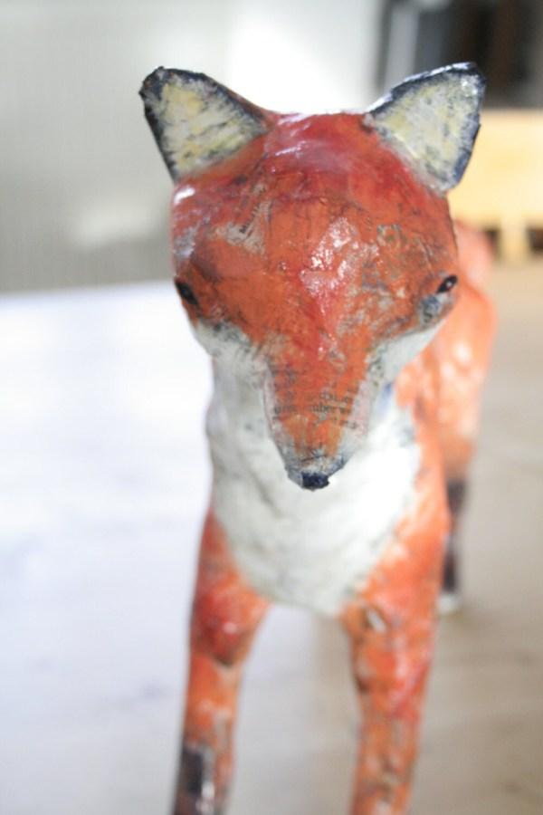 Paper Ch Fox Sculpture Fine Art