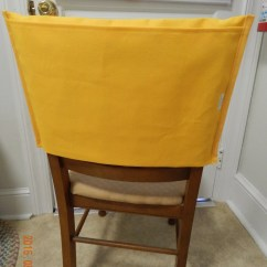 Classroom Chair Covers With Pocket Patio Caps Back Premade Yellow 12