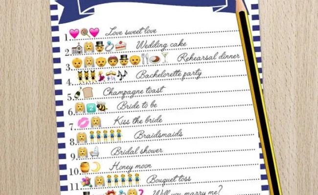 Wedding Emoji Pictionary Bridal Shower Game Printable