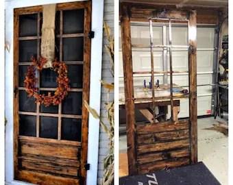 On Sale Beautiful Custom Rustic Screen Door With By