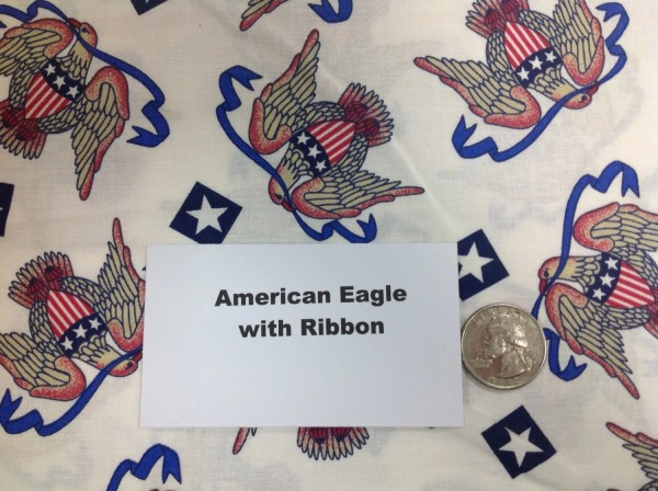 American Eagle With Banner Fabric 2 Yards Quarterstoquilts