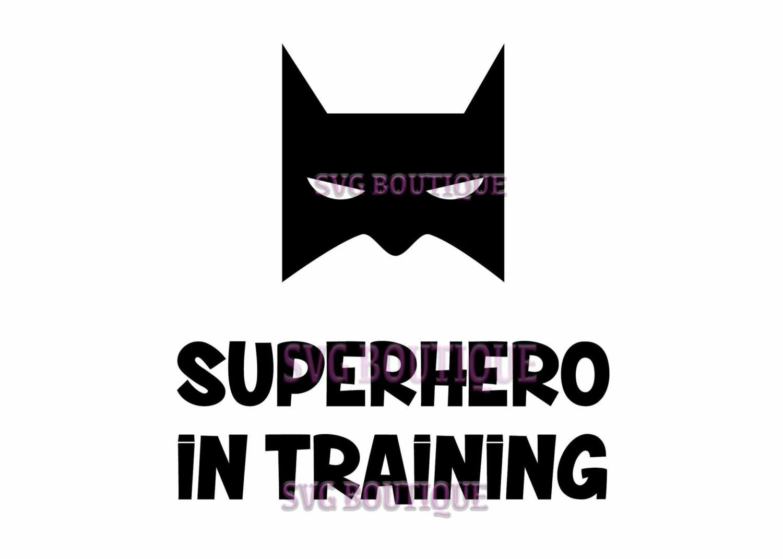 Superhero SVG File Superhero In Training Tshirt Clip Art