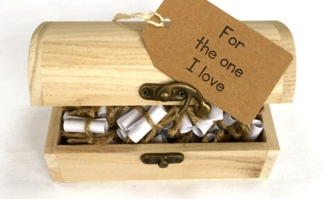Love Message And Quote Chest Gift For Boyfriend Gift For