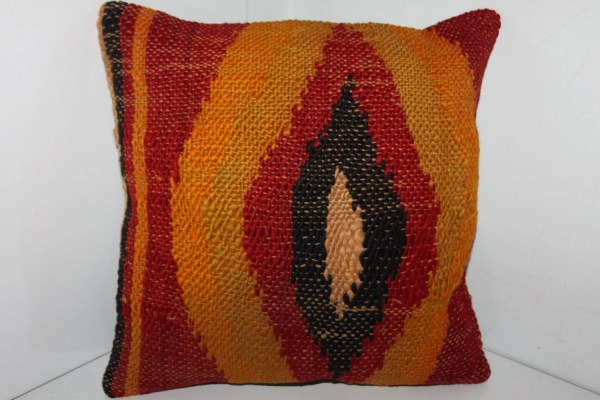Turkish Kilim Pillow Cover 14 X Yellow Red