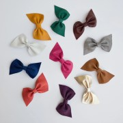leather hair bows refinedkids