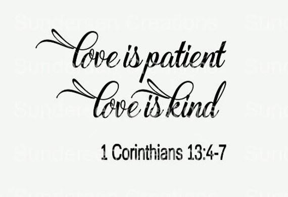 Download Love is patient Love is kind SVG file Love is patient Love