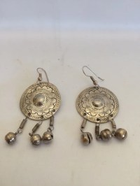 Vintage Concho Style Earrings