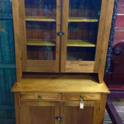 Kitchen Hutch Cabinet Barn House Antique Maple Step Back 2 Piece 44w78h20d Top Is 45h12d.