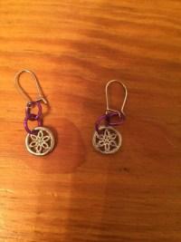 Cute Small Flower Earrings for pierced Ears by BelieveTheMagic