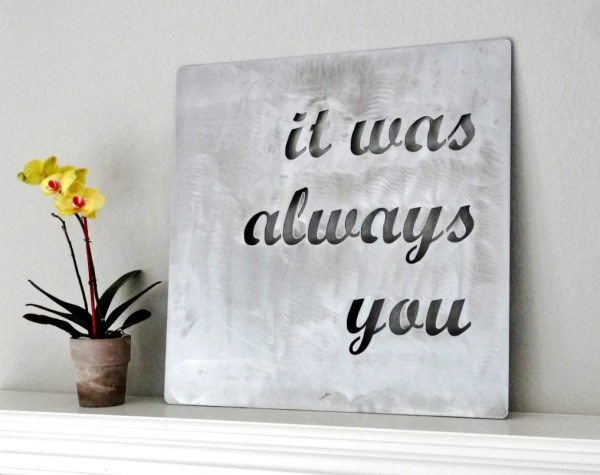 Custom Metal Quote Sign And Sayings Inspirational