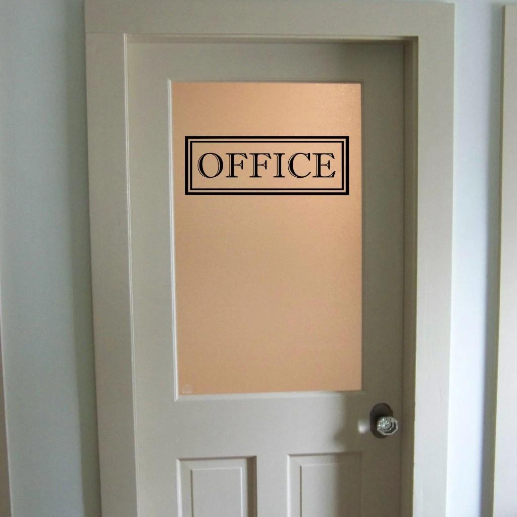 Office Vinyl Decal Office Glass Door Decal Wall Words Vinyl