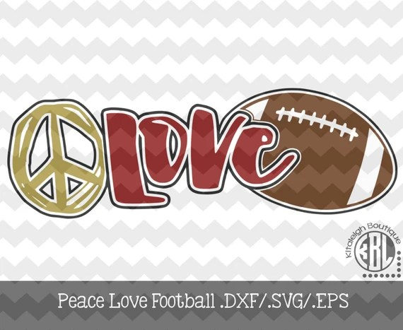Download Peace Love Football Files INSTANT DOWNLOAD in dxf/svg/eps ...